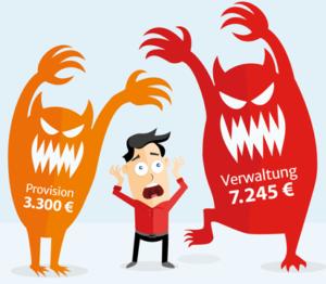 Kosten fondsgebundene Rentenversicherung Provisionstarif